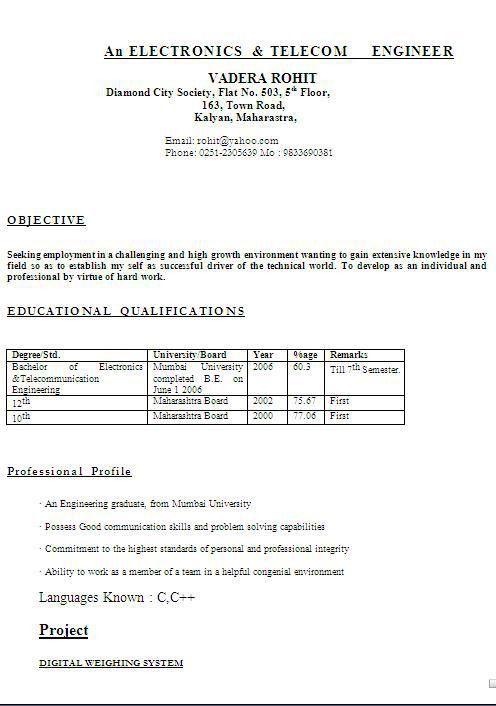 Short Resume Format Extremely Inspiration Short Resume  Functional