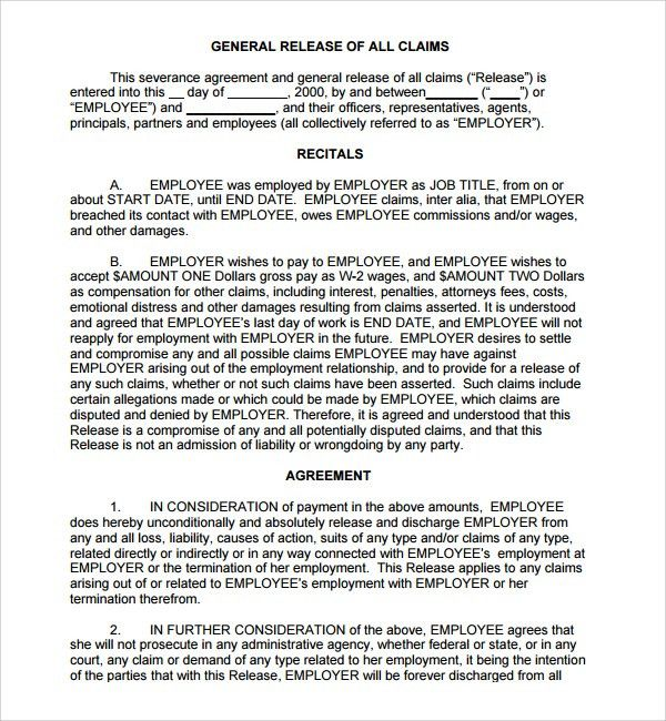 Release Agreements. Many Lawsuits Are Settled Before The Case ...