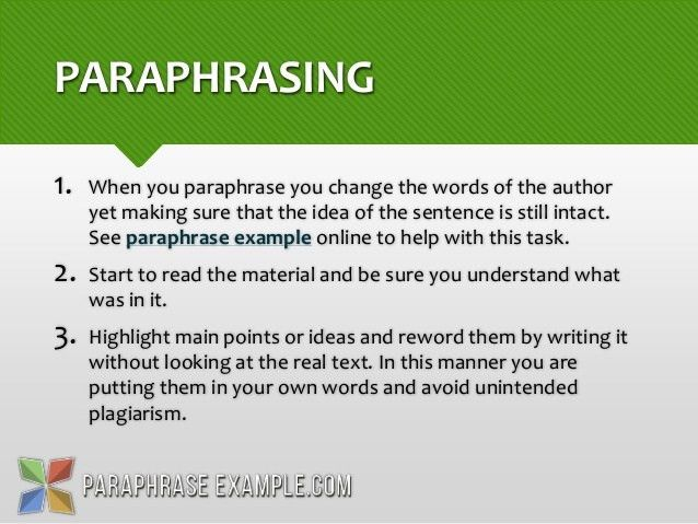 Paraphrase Vs. Summary