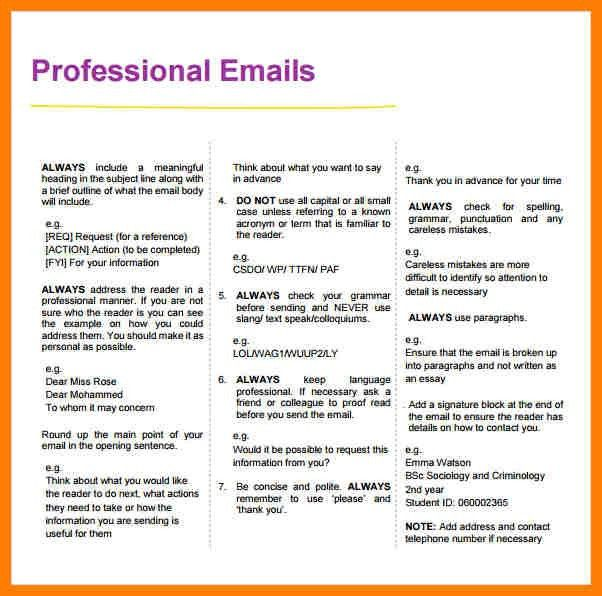 6+ professional email example | billing clerk resume