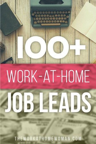 Over 100 Work at Home Jobs and Opportunities For Moms
