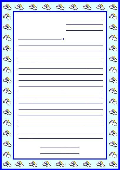 10 Best Images of Postcard Writing Template For Kids - Printable ...