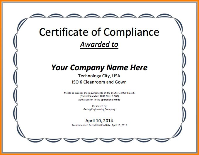 Ms Word Certificate Template.Participation Certificate Template ...