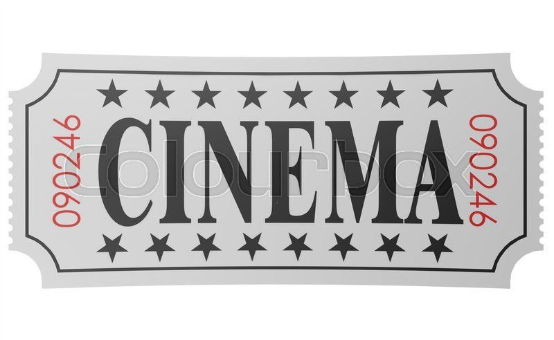 Isolated ticket with cinema word, 3D rendering | Stock Photo ...