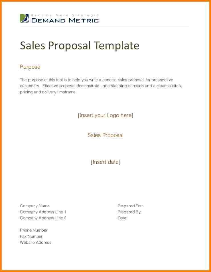 10+ sales proposal template | Proposal Template 2017