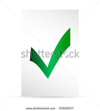 Template Ballot Paper Elections Icons Check Stock Vector 378229177 ...