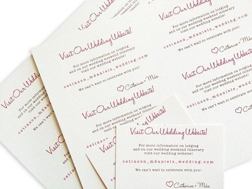 Print Wedding Stationery With MS Word Tables