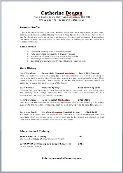 resume template uk