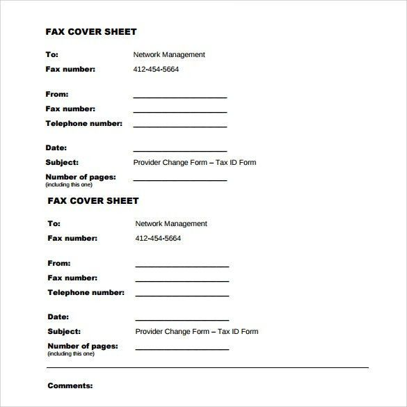 Sample Generic Fax Cover Sheet - 13+ Documents In PDF, Word