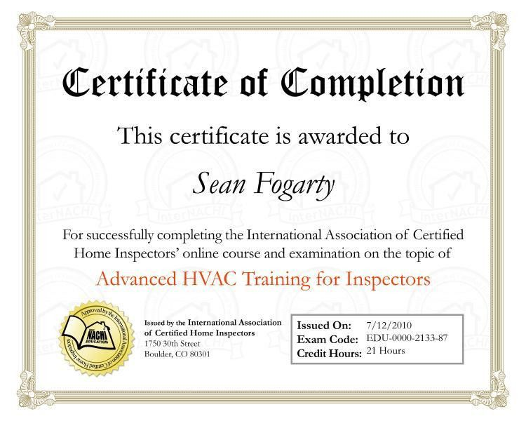 Training and Certifications | Safety 1st Home Inspection