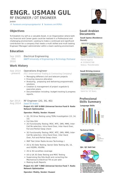 Operations Engineer Resume samples - VisualCV resume samples database