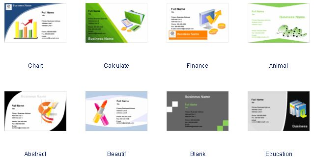 Business Card Software, Free Business Card Templates Download
