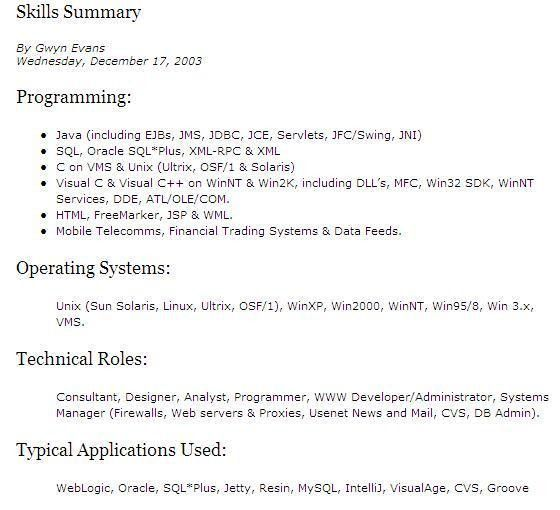 It Resume Skills 2 Enjoyable Inspiration Ideas 16 Technical - It ...