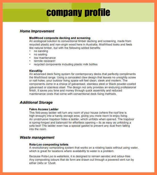 5+ sample company profile for small business | Company Letterhead