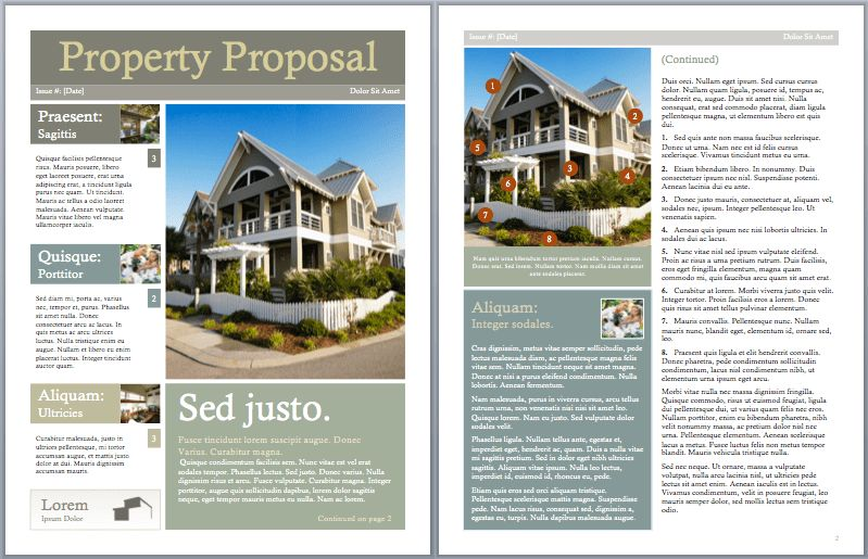 Real Estate Proposal Template – Microsoft Office Templates