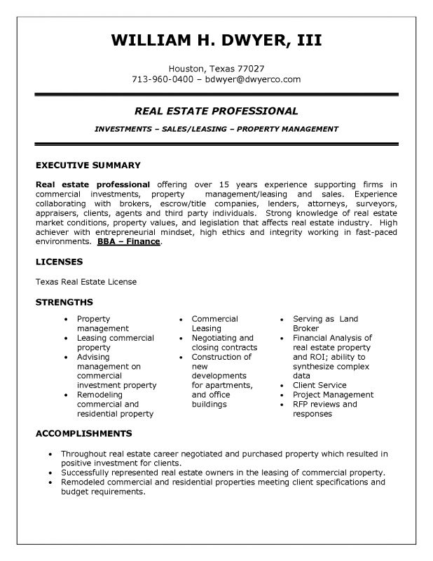 leasing agent job description for resume resume for leasing agent ...