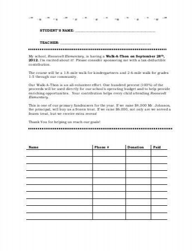 Pledge Sheet Template. hit a thon pledge form fill online ...