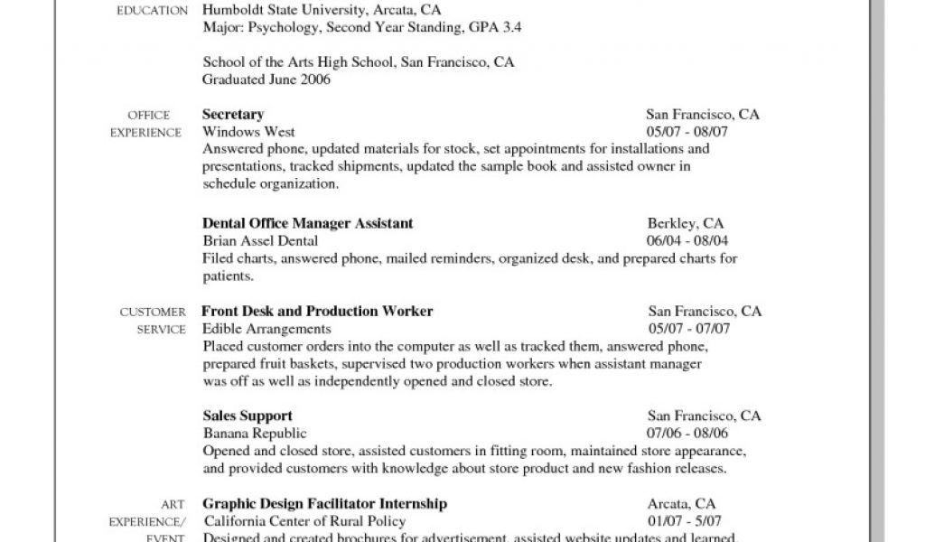 resume objective part time job transfer essay example industrial ...