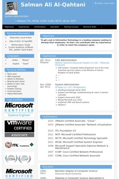 Administration Resume samples - VisualCV resume samples database