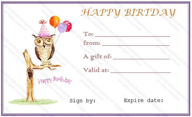10 Best Images of Happy Birthday Certificate Template Blank ...