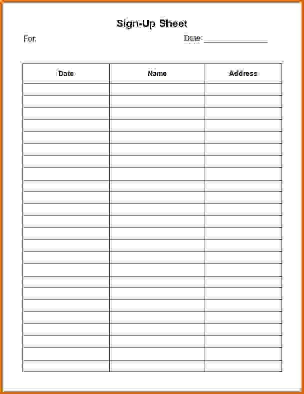 7+ sign in sheet template wordReference Letters Words | Reference ...