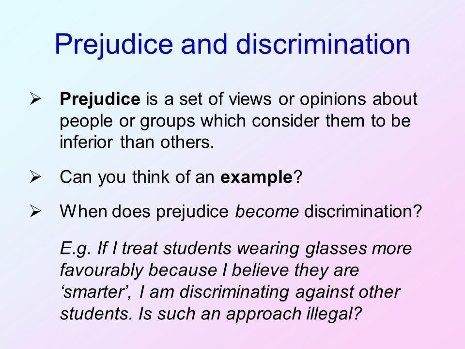Prejudice, Discrimination and Disadvantage - ppt video online download