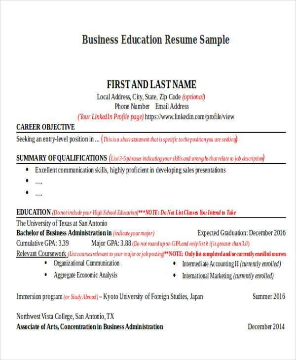 14+ Education Resumes in Word | Free & Premium Templates