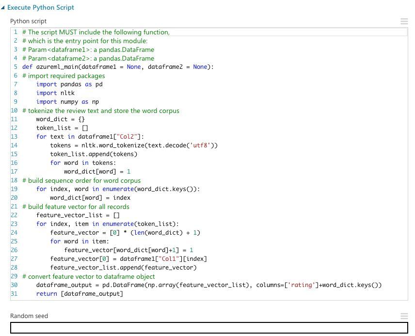 Execute Python Script | Cortana Intelligence Gallery