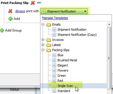 Adding a Print Rule for Packing Slips or Invoices : ShipWorks Support