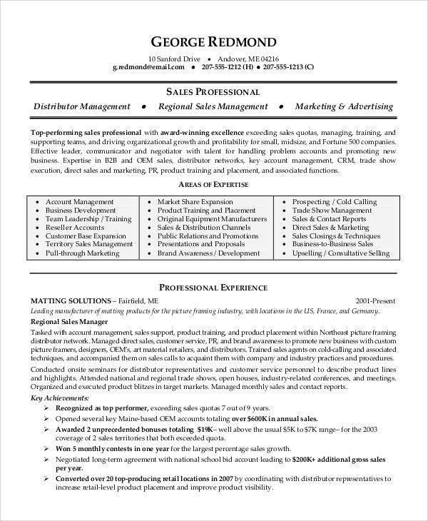 Sample Sales Associate Resume - 7+ Examples in PDF