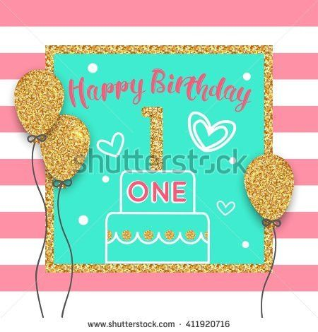 Happy Birthday Card Template Vector Eps Stock Vector 364708616 ...