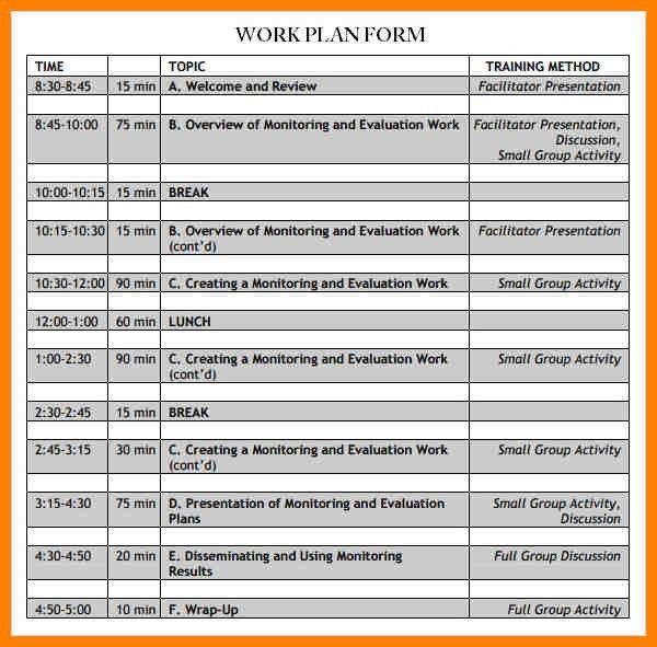 4+ work plan sample | portfolio covers