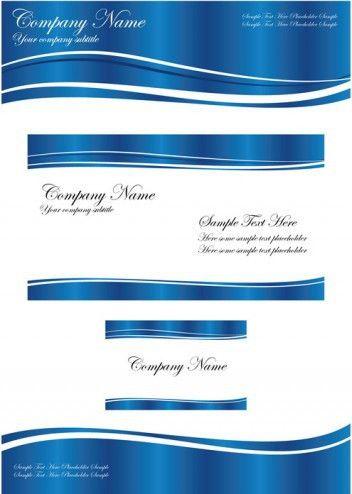 Business Template Blue Wave Vector | DragonArtz Designs
