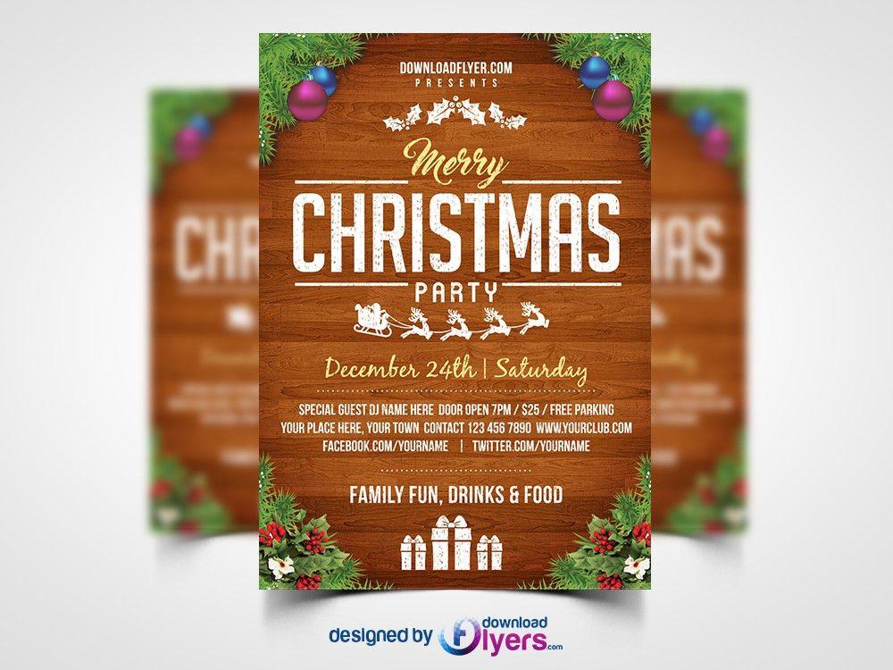 Free Christmas Flyer Template - Contegri.com