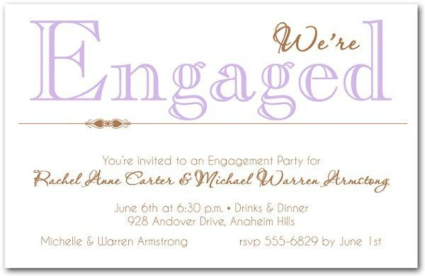 Engagement Party Invitations Wording | afoodaffair.me