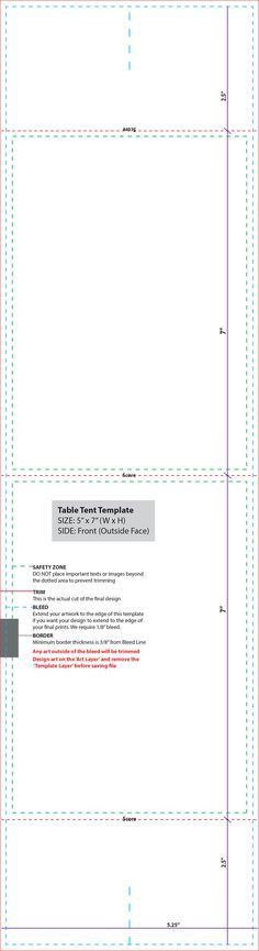 Folded Table Tent Template Table Tents | Chapter Events ...