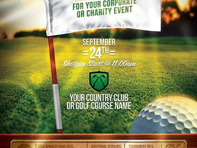 Golf Tournament Event Flyer Template by STRONGHOLD - Dribbble