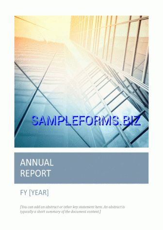 Report Template & samples forms