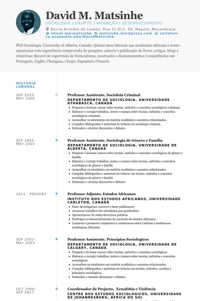 Cio Resume samples - VisualCV resume samples database
