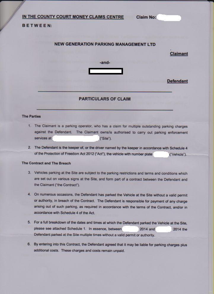 Court Claim: Counter claim
