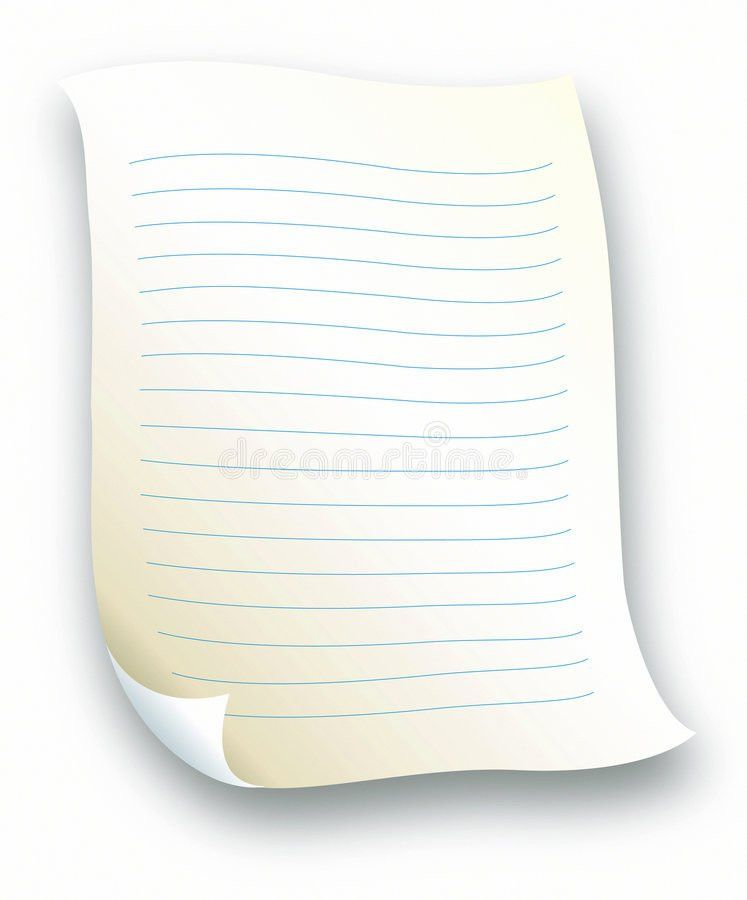 Lined Letter Paper Royalty Free Stock Photography - Image: 511157