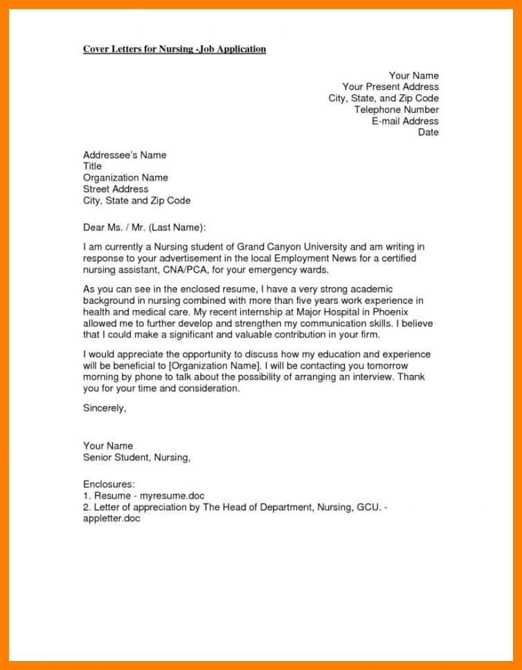 enrolled nurse cover letter. registered nurse cover letter templat ...