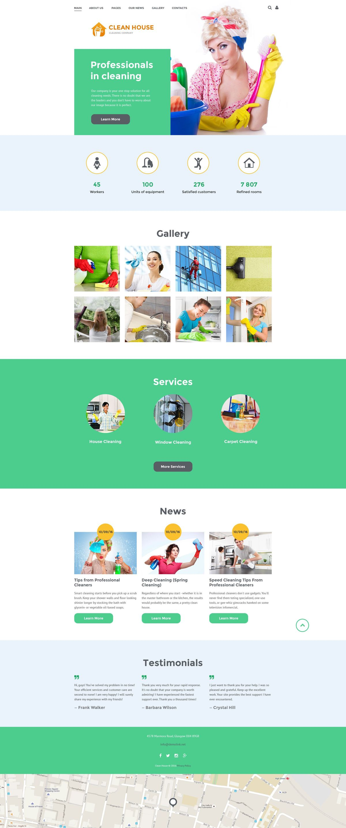 Cleaning Services Joomla Template #52683