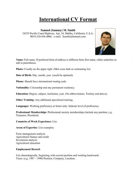 Format Resume. Popular Resume Formats Writing Your Resume Must ...