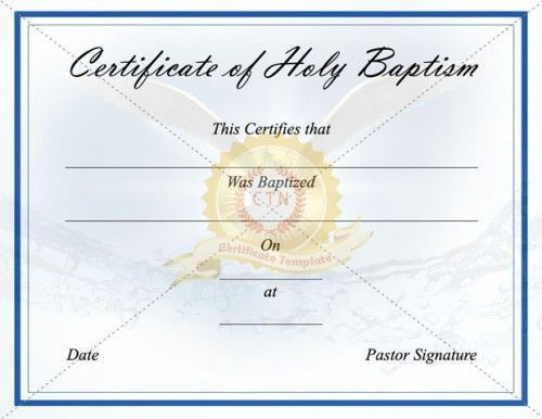 8 best Baptism Certificate Template images on Pinterest ...