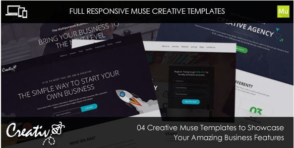75+ Responsive Creative Adobe Muse Templates 2016 - Tutorial Zone