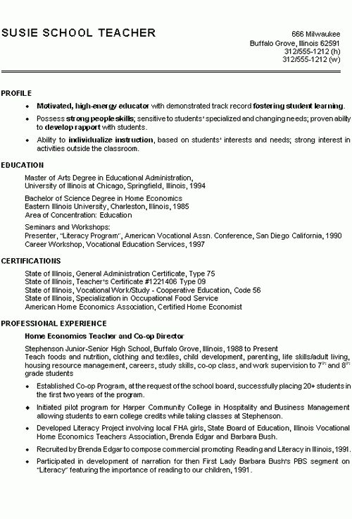 resume examples for teachers by pin teacher resume sample template ...