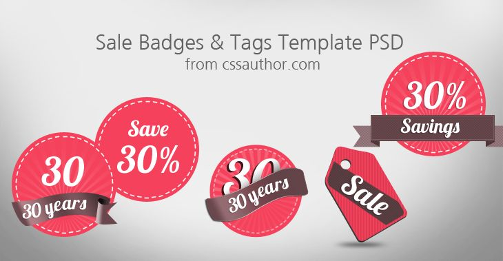 Download Free Sale Badges and Tags Template PSD - Freebie No: 3