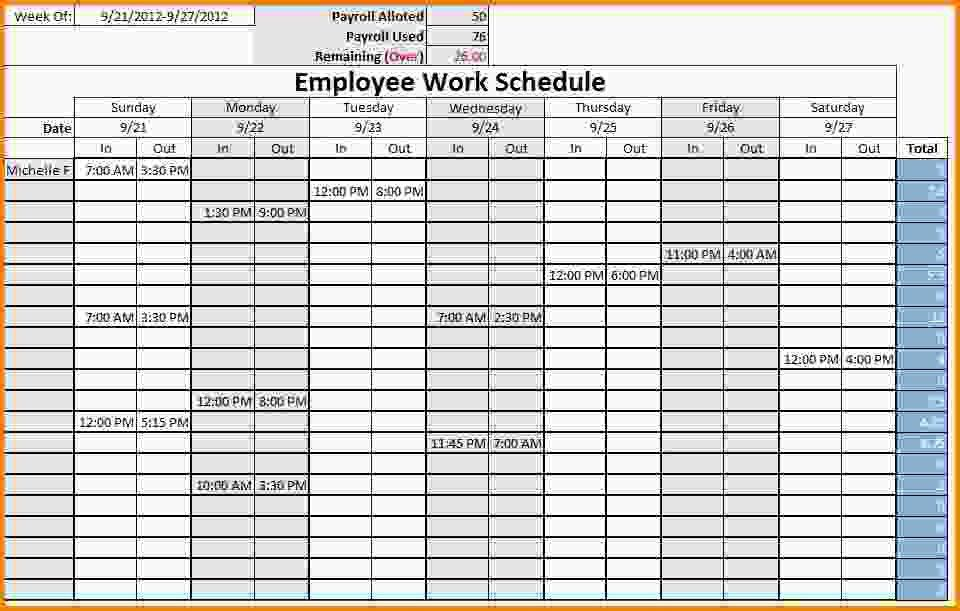 10+ monthly schedule templates - LetterHead Template Sample