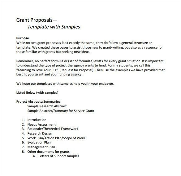 Grant Proposal Template Example. Grant Proposal Template - 9+ ...